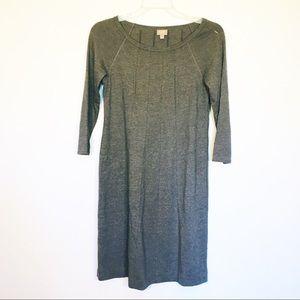 J. Jill Womens Long Sleeve Gray Dress Size XS